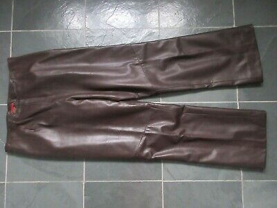 $ CDN95 • Buy DANIER Made In CANADA Brown Real Italian Leather Soft Touch Lined Pants Size 8
