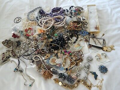 $ CDN52.20 • Buy Vintage To Modern Jewelry Lot  Over 5 Pounds Some Wearable Some Craft Unsearched