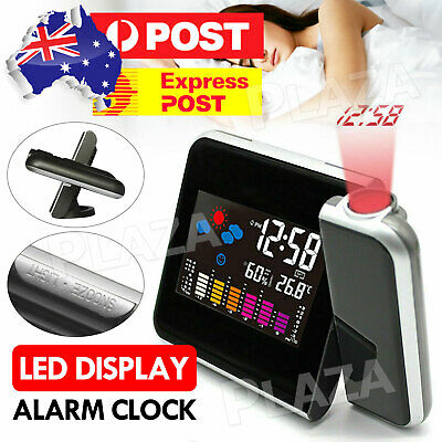 AU15.95 • Buy Alarm Clock Smart Digital LED Projection Temperature Time Projector LCD Display