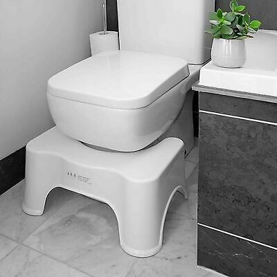 Toilet Squat Stool Non Slip Step Bathroom Constipation Aid Piles Relief Rest  • 9.99£