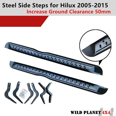 AU239.95 • Buy Side Steps For Toyota Hilux 05-11 N70 Running Boards Matte Black Powder Coated