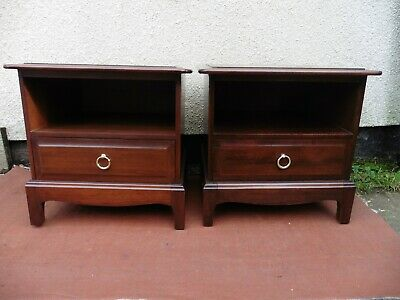 Stag Minstrel Mahogany Bedside Cabinets, Chests, Tables, ( Pair) Clean & Tidy. • 125£