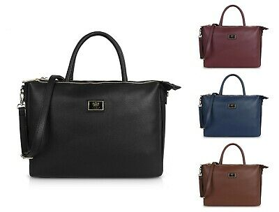 LYDC Multi Compartment Briefcase Work Shoulder Bag Laptop Handbag Faux Leather  • 19.99£