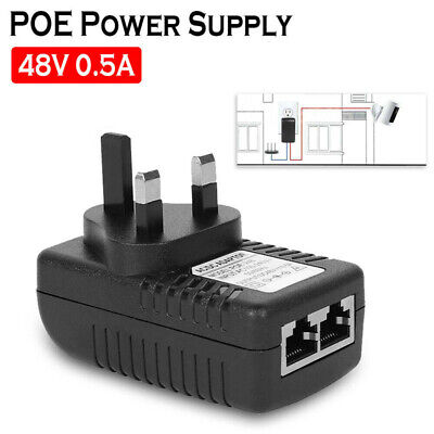 £5.19 • Buy POE Power Supply 24W 48V PoE Injector Adapter UK Wall Plug Power Over Ethernet