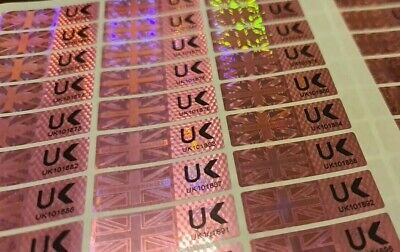 £2.39 • Buy Hologram Warranty Void Proof Evident Labels Security Seal Stickers Numbered