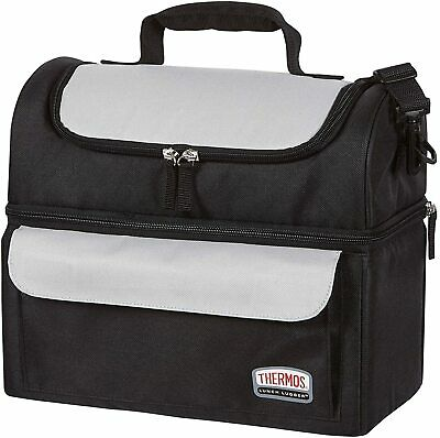 AU36.90 • Buy Thermos Food Jar LUNCH LUGGER COOLER BAG SOFT SIDED Dual Insulated Compartments