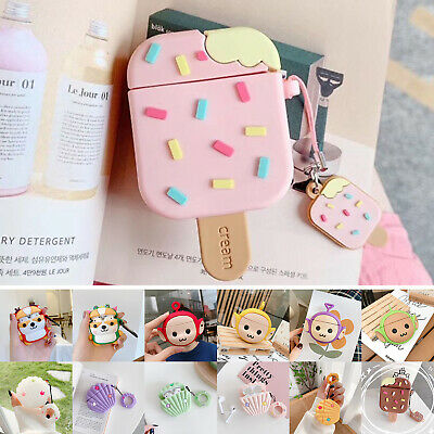 AU16.17 • Buy For Airpods2/1 Charging Case Rubber 3D Cartoon Silicone Skin Earphone Case Cover