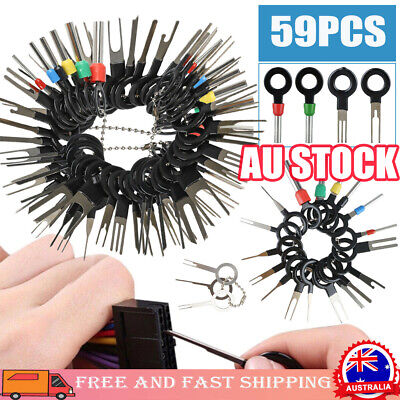 AU15.96 • Buy 59Pcs/Set Pin Ejector Wire Kit Extractor Auto Terminal Removal Connector Tool RK