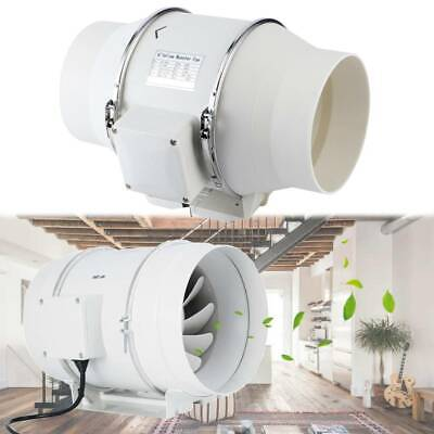 6inch 80W Hydroponic Grow Room Fan Inline Tent Extractor For Duct Carbon Filter • 35.99£