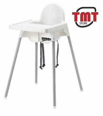 IKEA ANTILOP Baby Children High Chair With Safety Belt Feeding Tray Chair White • 27.99£