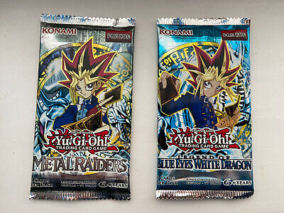 YuGiOh VINTAGE Legend Of Blue Eyes Metal Raiders Booster Packs Sealed LOB MRD • 49.95£
