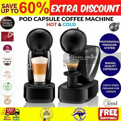AU91.33 • Buy Nescafe Capsule Pod Coffee Machine Infinissima Hot And Cold 1.2L Dolce Gusto NEW
