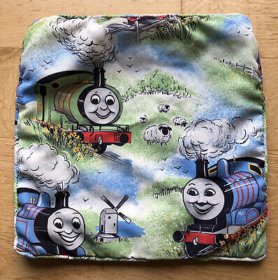 Thomas The Tank Engine Cushion Cover In Vintage Fabric - Not Filled - 34 X 34cm • 1.99£