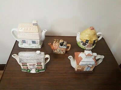 Cottage Ware Teapots. A Collection Joblot Of 5 Unbranded. • 13.99£