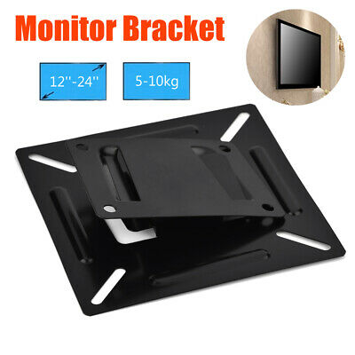Wall Mount Stand Bracket Holder For 12-24 Inch LCD LED Monitor PC TV Screen 10KG • 4.23£