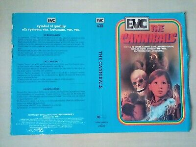The Cannibals - Pre Cert Video SLEEVE ONLY - EVC • 6.50£