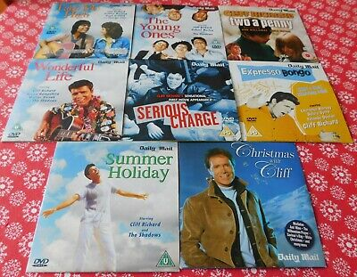 Daily Mail Promo DVD X 7 - Cliff Richard Collection + Christmas CD • 15£