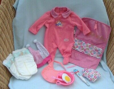 £12.99 • Buy Baby Annabell GET BETTER Bundle Outfit Thermometer Hot Water Bottle Nappies Etc