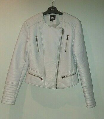 Gorgeous Baby Blue Faux Leather Jacket From New Look - Age 14-15 - BNWOT • 14.99£