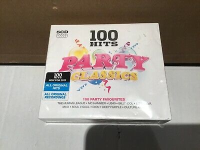 100 Hits Party Classics 5CD Dmg 100 106 Brand New Sealed Cd Disc Collection • 12.99£