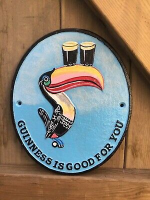 Cast Iron Guinness Dublin Flying Toucan Sign Wall Plaque Hand Painted Guiness • 19.95£
