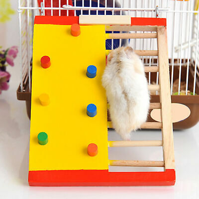 Hamster Wood Climbing Ladder Guinea Pig Non-slip Stair Exercise Toy Ver • 5.08£