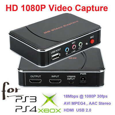 USB HD Video Capture Card 1080P HDMI Audio Recorder Game Box For Xbox PS4 TV  H2 • 56.57£