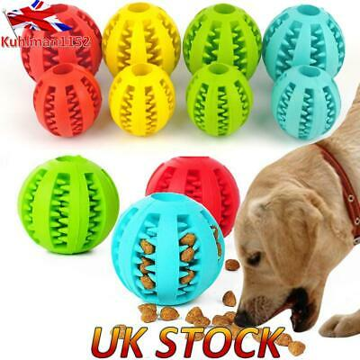 Pet Durable Rubber Ball Chew Dog Puppy Teething Cleaning Dental Healthy Treat • 4.89£