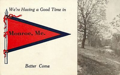 $4.90 • Buy  We're Having A Good Time  In Monroe Maine~Path Along Stream~1913 Pennant PC