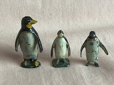 Vintage Rare Lead Penguins X3 By Johillco & Britains Etc In Good Played Used Con • 35.99£
