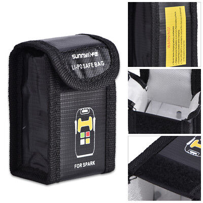 AU9.16 • Buy Fire Resistant Lipo Battery Safety Guard Storage Safe Pouch For Spark Drone New