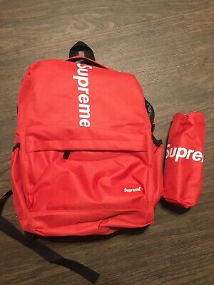 $ CDN37.80 • Buy Red Supreme Nylon Backpack-Small/Medium BRAND NEW + BONUS BAG