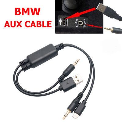 Y Cable Lead USB AUX Interface For BMW MINI COOPER IPhone 7 IPod Touch 5 Nano 7 • 10.96£