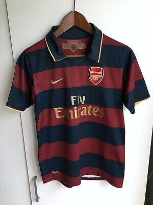 Arsenal FC Gunners 2007/08 Third Soccer Jersey Football Shirt Youth Size L 158cm • 0.53£