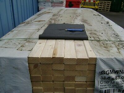TIMBER PLAINED  ALL ROUND   C16     38mm X 63mm (3X2)  X 1  • 3.50£