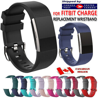 $ CDN6.89 • Buy For Fitbit Charge 2 3 4 Band Replacement Wrist Strap Silicone Smart Watch Band