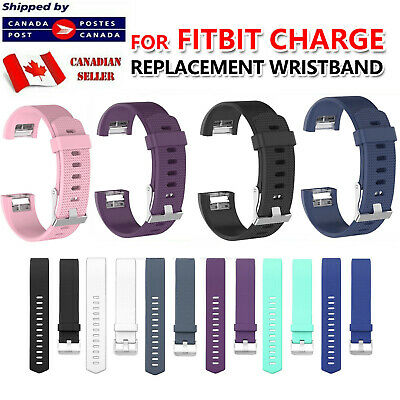 $ CDN5.45 • Buy For Fitbit Charge 2 Band Replacement Silicone Strap Black Soft Bands Small Large