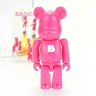 $14.99 • Buy Medicom Bearbrick Be@rbrick 100% Series 10 Basic Small B Hot Pink S38 Toy