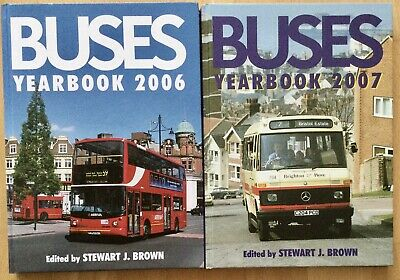 2 X Buses Yearbook 2006 & 2007 By Stewart J Brown Ian Allen Publishing As New • 8.99£