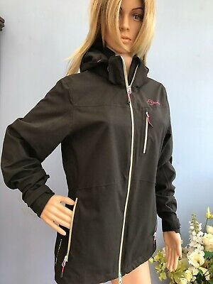 Dare2be Black Soft Shell All Weather Showerproof Jacket Coat With Hood Size 12 • 9.99£