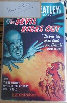 Dennis Wheatley The Devil Rides Out 1956 Hutchinson Signed • 74£