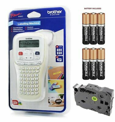 Brother Hand Held Label Maker Labelling Print Machine + Tape + Batteries H101C • 27.99£