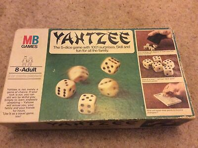 Original Yahtzee Dice Game By MB Games Vintage Late 70's • 9.99£