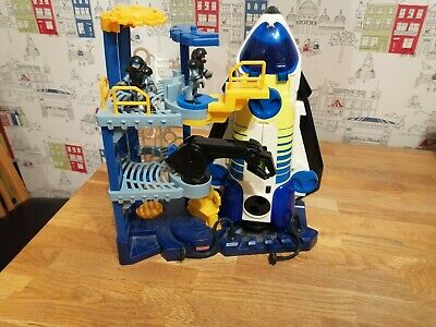 Fisher Price Imaginext Space Shuttle Rocket Station With Figure Lights & Sounds • 14.50£