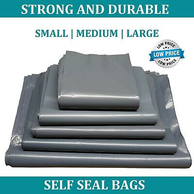 £3.29 • Buy Grey MAILING Post Mail Plastic Postage BAGS Poly Postal Shipping Sack Envelopes