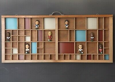 Printers Drawer Cabinet Display With Contemporary Colours And Football Players • 95£