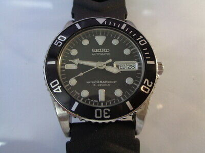 $ CDN15.05 • Buy SEIKO DIVER MENS WATCH DAY & DATE AUTOMATIC 7S26-0050 Black Dial SKX023J Rubber