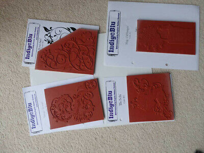 Inigo Blu Red Rubber Stamps Mounted On Static Cling Foam • 1.60£