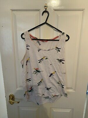 Ladies Joules Vest Top Size 12 • 1.20£