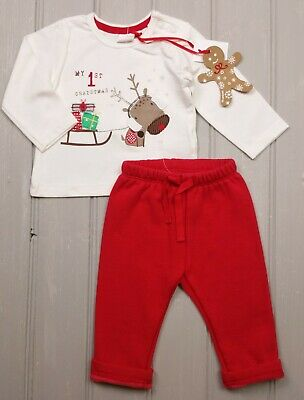 Baby Boys BLUE ZOO XMAS Christmas LSleeve Top GAP Red Sweat Joggers 3-6 Months  • 9.99£